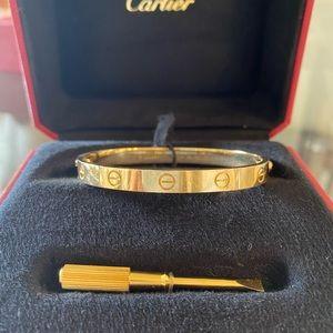 Cartier Love Bracelet, 18k Yellow Gold, Size 17